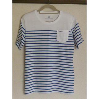 トランスコンチネンツ(TRANS CONTINENTS)の美品 Lサイズ トランスコンチネンツ ボーダー Tシャツ(Tシャツ/カットソー(半袖/袖なし))