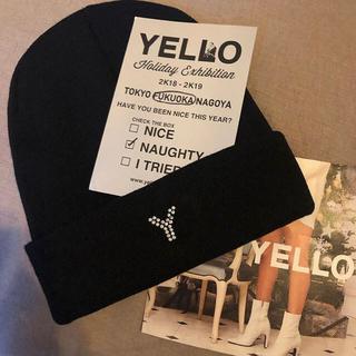 イエローブーツ(Yellow boots)のYello 2018  展示会ノベルティー ビーニー(ニット帽/ビーニー)