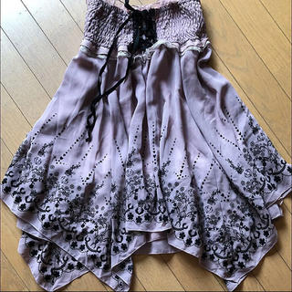 アロー(ARROW)の花柄スカート   (ひざ丈スカート)