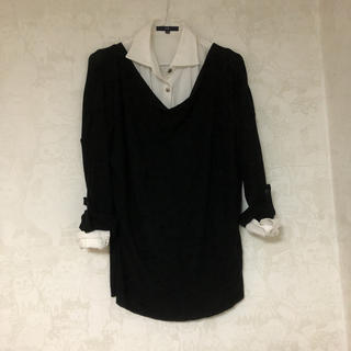 エムケーミッシェルクラン(MK MICHEL KLEIN)のMICHEL KLEIN セーター 春秋用  黒(ニット/セーター)