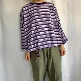 古着 ボーダービッグTEE(Tシャツ/カットソー(半袖/袖なし))