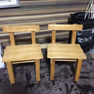 ウッドチェア 子供椅子 インテリア(ダイニングチェア)