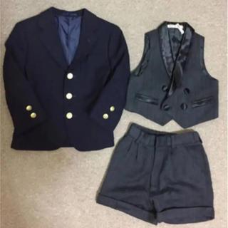 ジェイプレス(J.PRESS)の男の子100程度JPRESSのジャケットとグレーのセットアップ (ドレス/フォーマル)