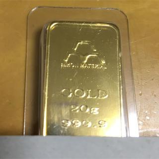 純金 24金 インゴット 20g(金属工芸)