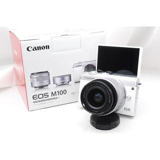 Canon - ♡WiFi&自撮り&女性向け♡Canon EOS M100 レンズキットホワイト