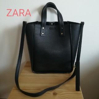 ZARA - ZARA黒2wayショッパーバッグトートショルダー斜めがけ