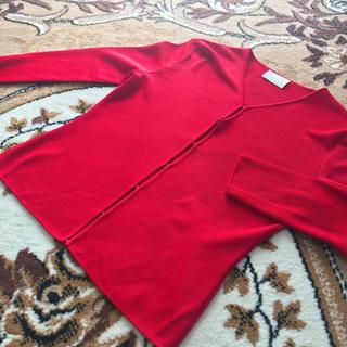 ハロッズ(Harrods)の【春夏物】Harrodsの使いやすい赤色カーディガン♡ハロッズ/赤色(カーディガン)