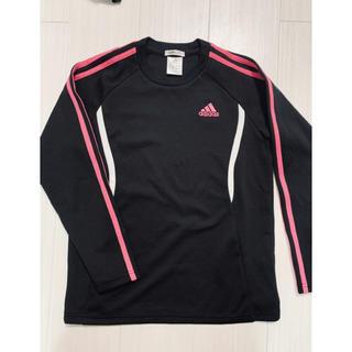 アディダス(adidas)のadidas アディダス Tシャツ 長袖 カットソー ピンク ブラック(Tシャツ(長袖/七分))