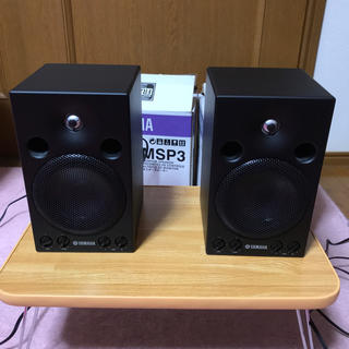 ヤマハ(ヤマハ)のYAMAHA MSP3 pair ステレオケーブル付き(スピーカー)