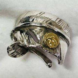 ゴローズ(goro's)のgoro's ゴローズ 特大フェザーリング 18kメタル付き(オールド)(リング(指輪))