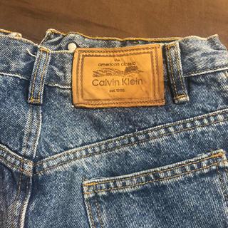 カルバンクライン(Calvin Klein)のcalvinklein  カルバンクライン デニムスカート(ミニスカート)