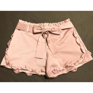 シンシアローリー(Cynthia Rowley)のフリル リボン ピンク ショートパンツ(ショートパンツ)