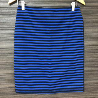 オールドネイビー(Old Navy)のold navy 細ボーダータイトスカート Sサイズ(ひざ丈スカート)