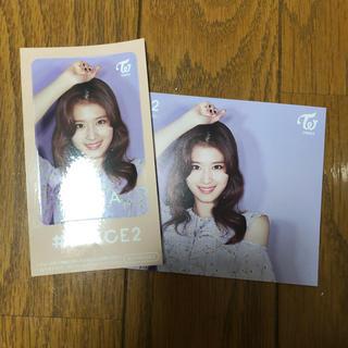 TWICE サナ ICカードステッカー&メッセージカード(K-POP/アジア)