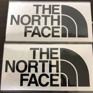 ザノースフェイス(THE NORTH FACE)の【縦7cm横14cm】THE NORTH FACEカッティングステッカ二枚セット(ステッカー)