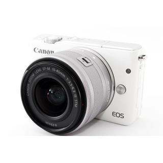 Canon - ☆自撮りしてWiFiでスマホに☆キャノン EOS M10 ホワイト