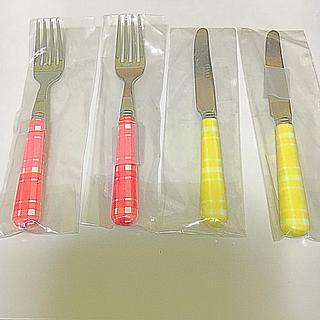 セイバー(SABRE)の【新品未使用】SABRE ケーキフォーク2本×ブレックファストナイフ2本(カトラリー/箸)