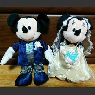 ディズニー(Disney)のウエルカムドール ミッキー&ミニー×2組(ウェルカムボード)