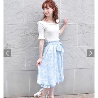 リズリサ(LIZ LISA)の[新品送料込]LIZ LISA*パステルフラワースカート(ひざ丈スカート)