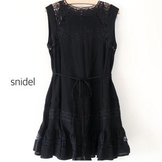 snidel - snidel レース ワンピース ブラック