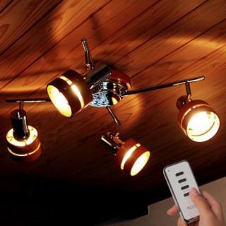 リモコン付き! ウッド シーリングライト クロス(天井照明)