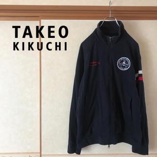 タケオキクチ(TAKEO KIKUCHI)のTK TAKEOKIKUCHI タケオキクチ スカルロゴフーディッドパーカー L(パーカー)