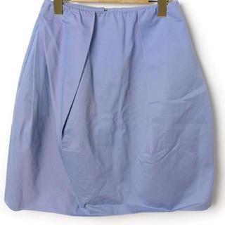 カルヴェン(CARVEN)のCARVEN 美品ブルースカート(ひざ丈スカート)