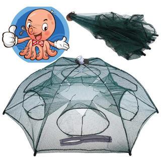 魚網 魚捕り網かご 釣り網 六手網 十二手網 折り畳み式 伸縮自在 (その他)