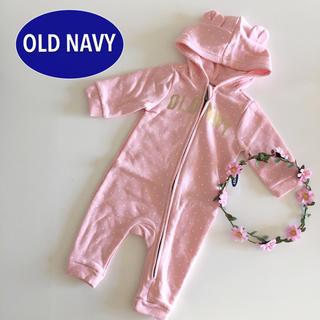 オールドネイビー(Old Navy)の新品♡くま耳♡オールドネイビー♡ジャンプスーツ カバーオール/ベビーギャップ 他(カバーオール)
