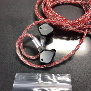 ゼンハイザー(SENNHEISER)のゼンハイザーIE80 中古品 ハンドメイドリケーブル付き(ヘッドフォン/イヤフォン)