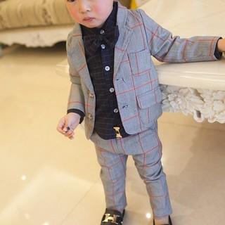 【男の子1番人気】 ネイビー チェック タキシードフォーマル 110cm(ドレス/フォーマル)