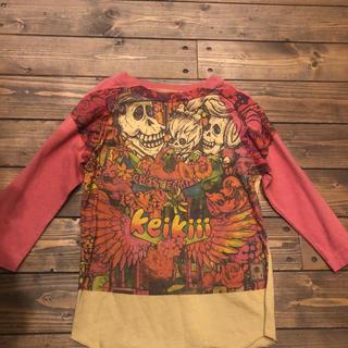 ケイキィー(Keikiii)のケイキィーのフリントストーン?パロディTシャツ4あちゃちゅむムチャチャがいこつ(Tシャツ/カットソー)