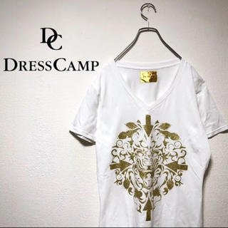ドレスキャンプ(DRESSCAMP)のdress camp ドレスキャンプ tシャツ 柄シャツ 半袖 メンズ 金箔(Tシャツ/カットソー(半袖/袖なし))