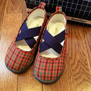 ファミリア(familiar)のfamiliar 16㎝ スリッポン  靴 ファミリアチェック(スリッポン)