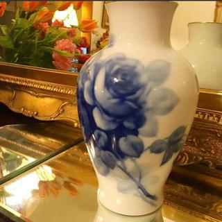 オオクラトウエン(大倉陶園)の大倉陶園  ブルーローズ  フラワーベース(花瓶)