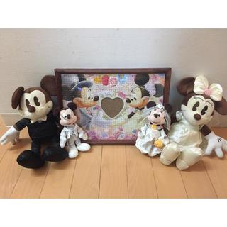 ディズニー(Disney)のDisney ディズニー ミッキー  ミニー 結婚 ウエディング 入籍 記念(キャラクターグッズ)