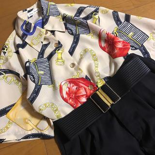 チェーン スカーフ柄 半袖 柄シャツ バッグ マリン