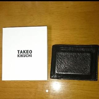 タケオキクチ(TAKEO KIKUCHI)のTAKEO KIKUCHI 二つ折り財布 箱付き 本革 タケオキクチ(折り財布)