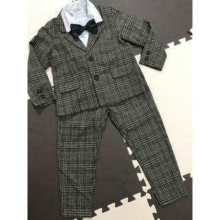男の子 スーツ チェック柄 130cm 美品(ドレス/フォーマル)