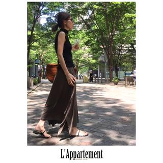 L'Appartement DEUXIEME CLASSE - 未使用♡アパルトモン♡Col Pierrot♡ジャージーギャザースカート♡カーキ