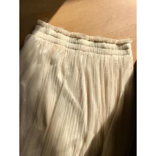 インフェクトカラーズ(Infect Colors)のプリーツスカート ホワイト ロングスカート(ロングスカート)