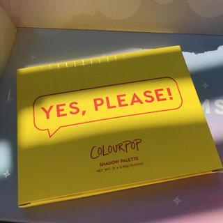 カラーポップ(colourpop)の新品 colourpopアイシャドウパレット【YES,PLEASE】(アイシャドウ)