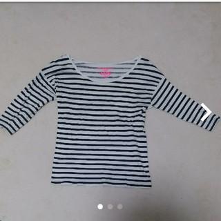 エルディーエス(LDS)のLDS ボーダー 5分袖 Tシャツ(Tシャツ(半袖/袖なし))