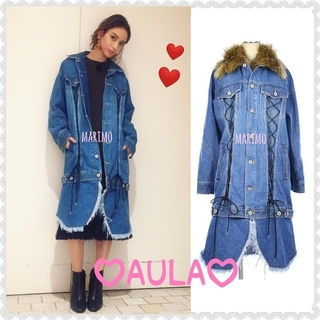 AULA AILA - 【美品】♥滝沢カレンさん着用♥AULA(アウラ)*デニムロングコート【希少】