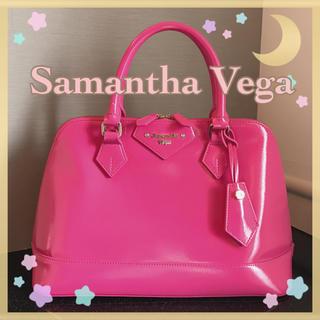 サマンサベガ(Samantha Vega)の超美品❤️Samantha Vega⭐️エナメルレディアゼル大⭐️華やかなピンク(ハンドバッグ)