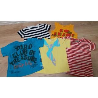 MUJI (無印良品) - タンクトップ 男の子 Tシャツ 5着セット まとめ売り 80