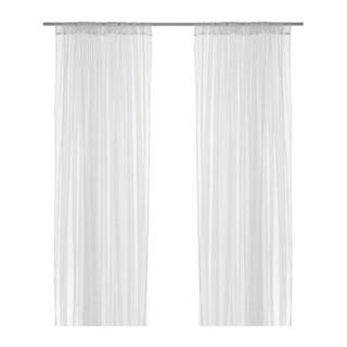 イケア(IKEA)の 【IKEA】 カーテン 幅280×長さ250 2枚組 LILL ホワイト  (レースカーテン)