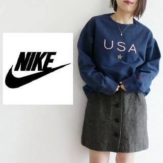 ナイキ(NIKE)のNIKE USA☆ ロゴ ゆるふわ スウォッシュ刺繍 スウェット(トレーナー/スウェット)