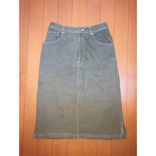 イーストボーイ(EASTBOY)のカーキ デニムタイトスカート(ひざ丈スカート)