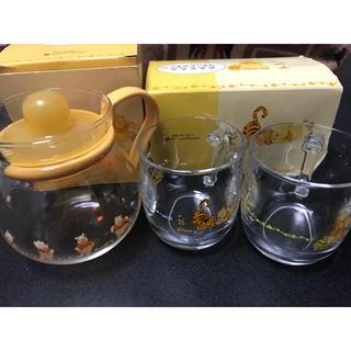 Disney - くまのプーさん ティーポット&グラス&皿